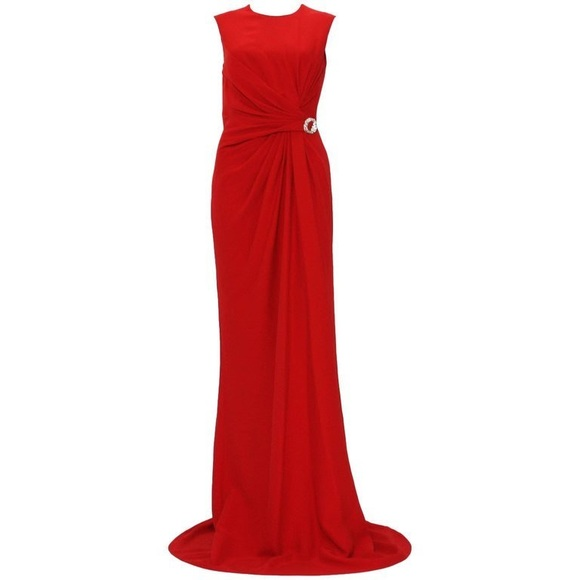 db255dca3ea Gucci Dresses | Silk Cady Ruched Front Long Dress Gown | Poshmark
